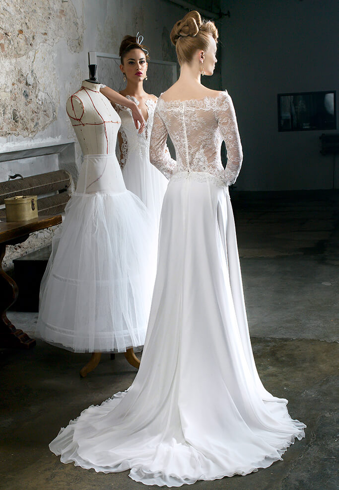 abito sposa gonna chiffon